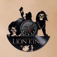 The Lion King Vinyl Record Wall Clock Modern Design Deecorative Kids Room Cartoon Movie Theme 3D Clock Wall Watch Home Decor