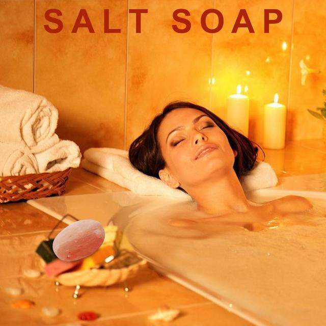 Swimming Salt Scrub Salt Soap Ball Natural Salt Health Cleaner Pore Acne Treatment Sea Salt Soap Cleaning Moisturizing Skin Care 4