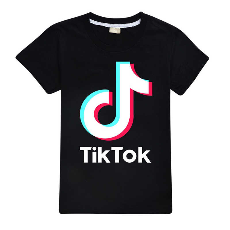TikTok Children Cartoon Cotton Boys And Girls Short Sleeve Hooded T-shirt Clothing