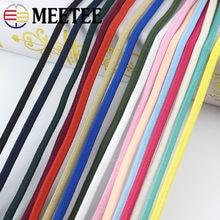Meetee 5/10/20M 5mm kalınlaşmış renk elastik halat lastik bant kalın bantları DIY kafa halatlar kemer dikmek Scrapbooking aksesuarları EB018