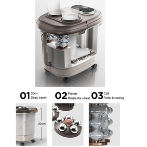 Image 3 - Voet Massage Bad Automatische Voeten Wastafel Elektrische Verwarming Machine Thuisgebruik Vingers Kneden Begassing Massage Tai Chi Kneden Spa