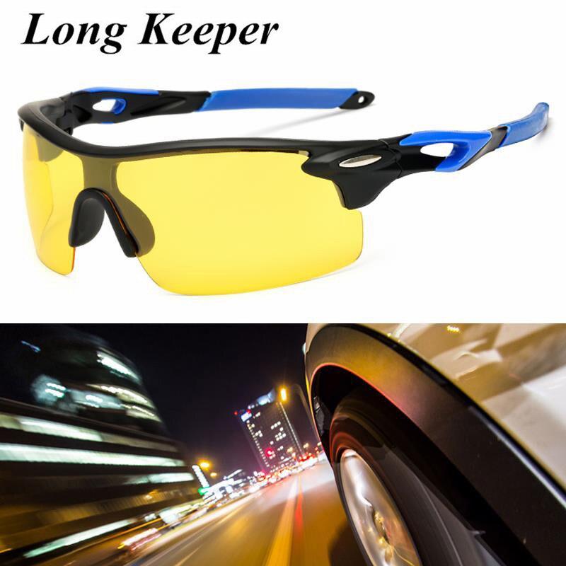 Men Driver Polarized Day Night Vision Sunglasses Women Rimless Goggles Sun Glasses Cloudy Fog Day Safe Driving Anti glare Gafas in Men 39 s Sunglasses from Apparel Accessories