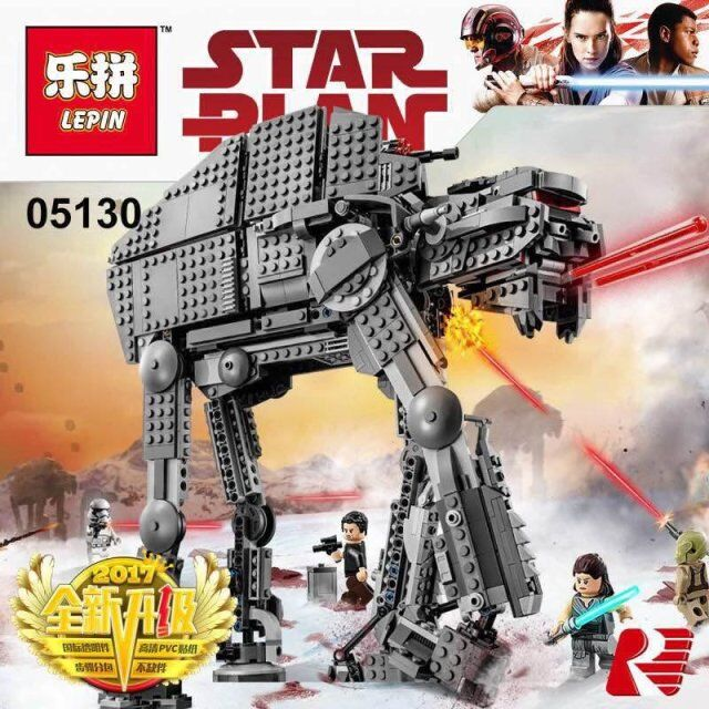 05130 10908 Star Wars Series First Order Heavy Assault Walker Building Block Bricks Compatible Legoinglys 75189 Starwars Toys