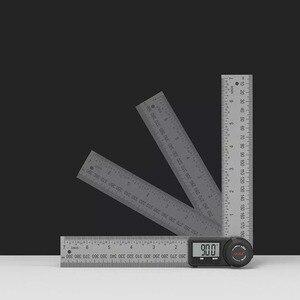 Image 2 - Youpinデュカ多機能デジタル表示角度定規ledディスプレイ360度測定304ステンレス鋼レーザーキャリブレーション