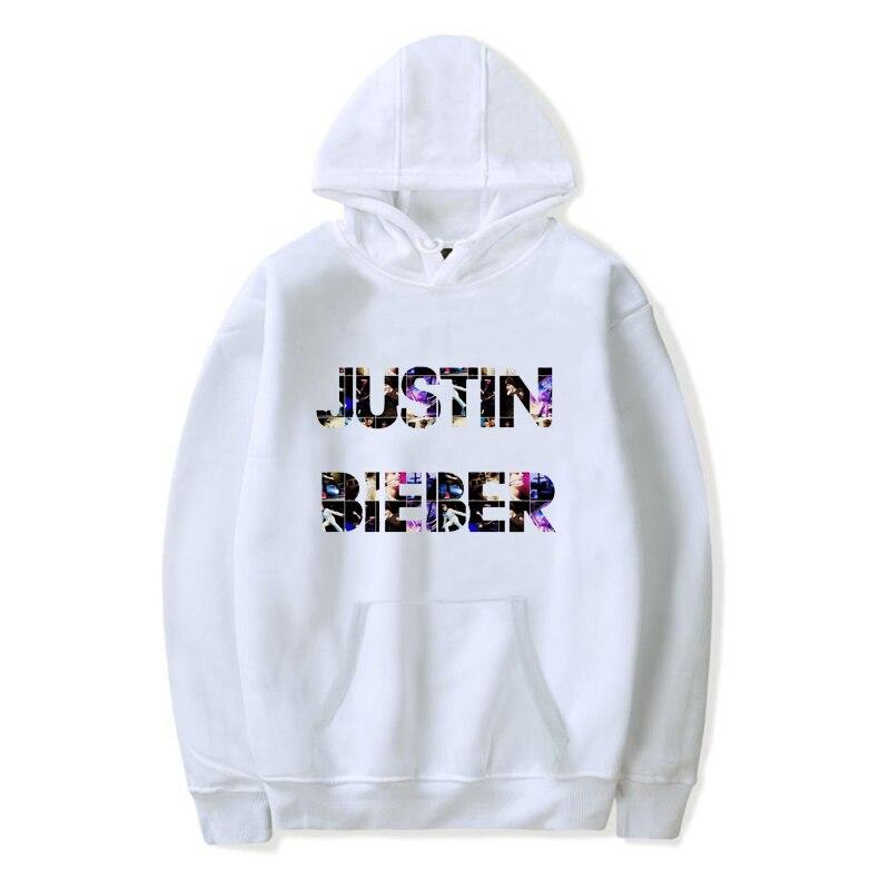 Plus Size Hoodies Justin Bieber Printed Pullover Hoodie Sweatshirt Men Fashion Autumn Winter Tracksuit Hoody Coat Unisex Hoody