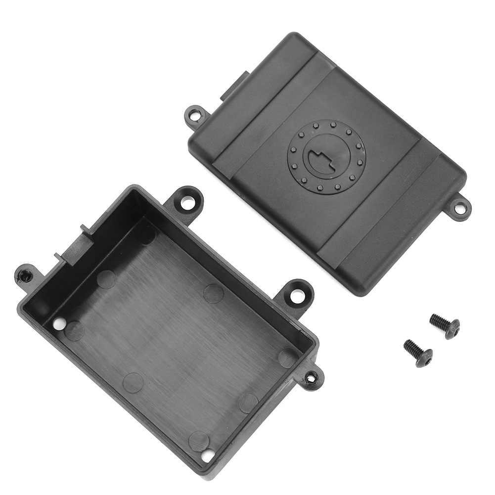Balap Plastik Kotak Penerima Plastik Receiver Radio Kotak untuk 1/10 RC Rock Crawler Mobil Axial SCX10 RC4WD SCX10II 90046 Traxxas TRX4