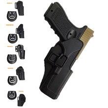 Fondina por pistola tattica por Glock 17 19 Beretta M9 Colt 1911 Sig Sauer P226 HK USP Airsoft fondina por cintura custodia por