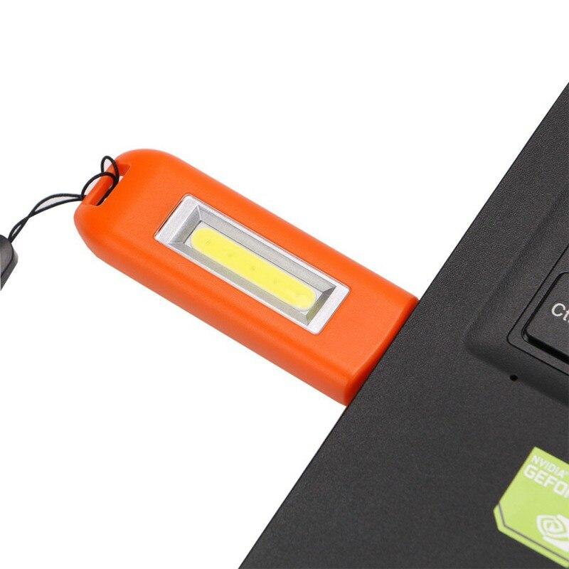 HwEshoo Portable LED USB Rechargeble Flashlight Torch Mini Keychain Multi-function COB Mini Lamp Outdoor Camping Tool Lamp New