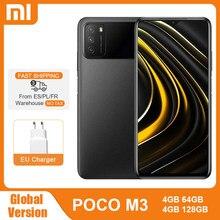 POCO M3 – Smartphone, Version globale, 4 go 64 go/128 go, Snapdragon 662 Octa Core, Triple caméra 48mp, écran FHD + 6.53 pouces, batterie 6000mAh