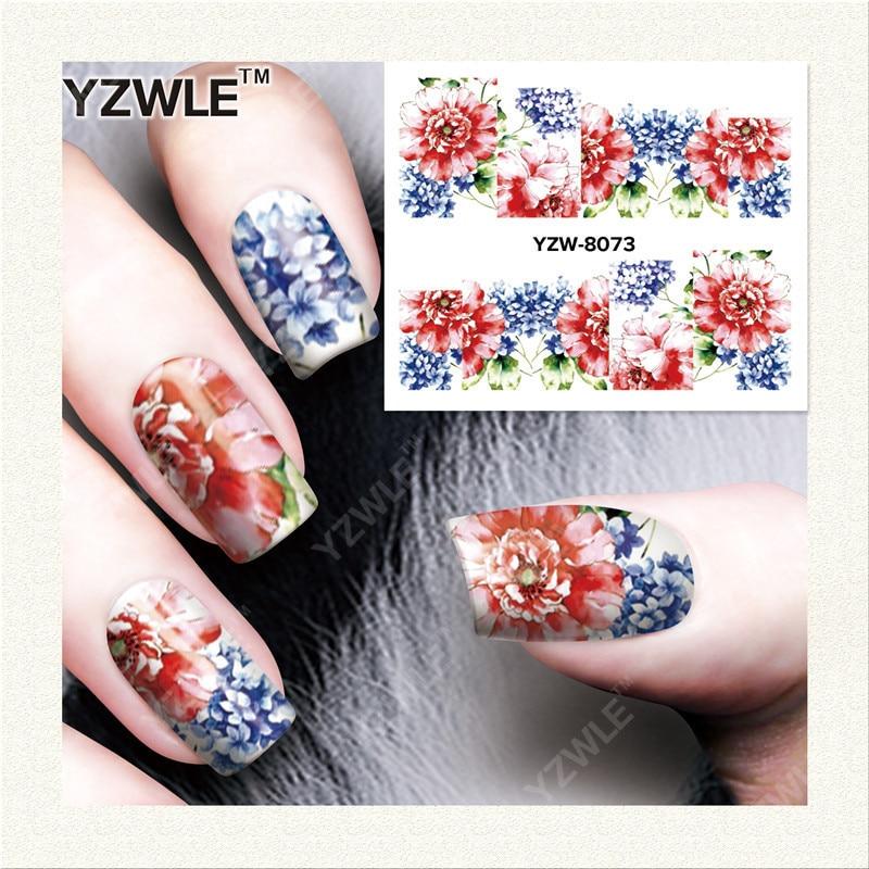 Yzw South Korea Star Gradient Shimmering Powder Solid Color Nail Sticker Flower Nail Stickers Nail Sticker YZW8073