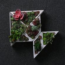 Concrete Planter Silicone Mold Rhombus Hexagon Shaped Geometric Home Decoration