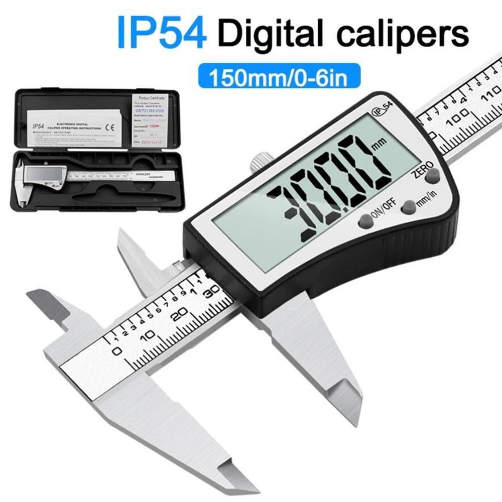 Digital Vernier Caliper 0-150mm Measuring Tool Stainless Steel High Precision