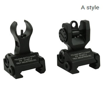 1 pair Tactical Troy HK Style Front&Rear sight Folding Battle Hunting accessories Black
