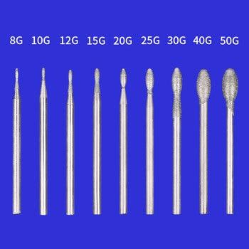 цена на 0.8-6mm 27pcs Egg Shape Electric Grinder Diamond Rotary Burrs Dremel Accessories Jade Carving Tool Set Agate Grinding Head