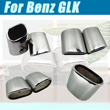 цена на For Benz GLK  X204 2011-2014 Car Stainless Steel Car Muffler Exhaust Tail Throat Liner pipe car shape exhaust tail pipe muffler