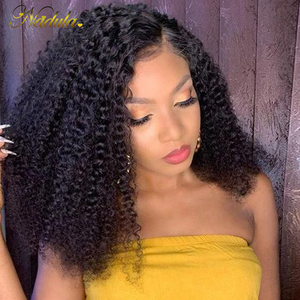 Image 1 - Nadula Hair 13*4 Short Bob Mongolian Kinky Curly Hair Wigs for Women Kinky Curly Lace Front Human Hair Wig Bob Lace Front Wig