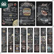 Putuo Decor Food Metal Sign Tin Vintage Plaque Fast Food Tin Sign Wall Decor Poster for Kitchen Cafe Diner Bar Burger Metal Sign