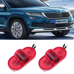4 Pcs For Skoda Octavia A5 2005-2013 LED Car Logo Door Welcome light Auto Emblem Laser Projector Lamp Ghost Shadow Luces Styling