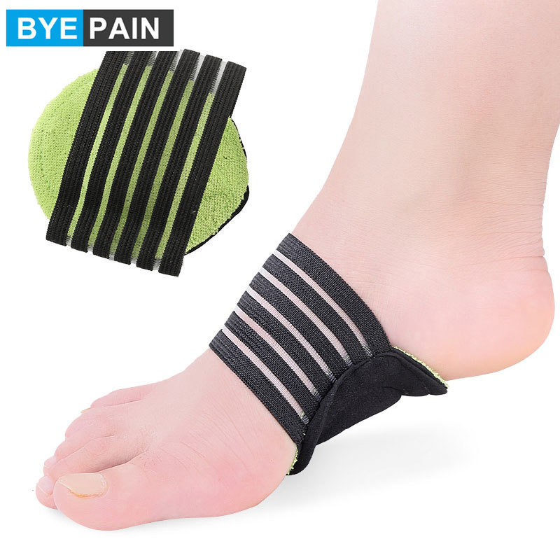 1Pair BYEPAIN Orthopedic Arch Support Insoles Flat Foot Flatfoot Corrector Shoe Pad Cushion Insert Light Soft Insole