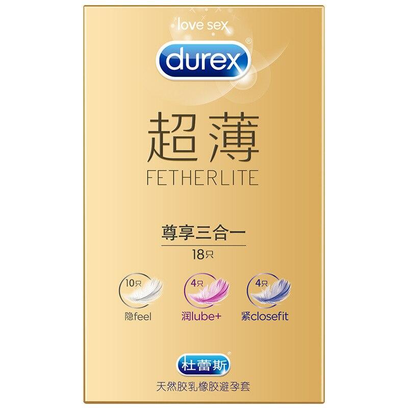 Durex Feel Lube Super Feeling 3In1 Condoms Ultra Thin Sex Toy Condones