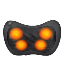 Home Car Dual-Use Multifunction Dish Massage Pillow Cervical Lumbar Leg Massage Pillow Infrared Heating Body Massager Relaxation full automatic household luxury massage chair cervical vertebra lumbar body wrapped massage head massager