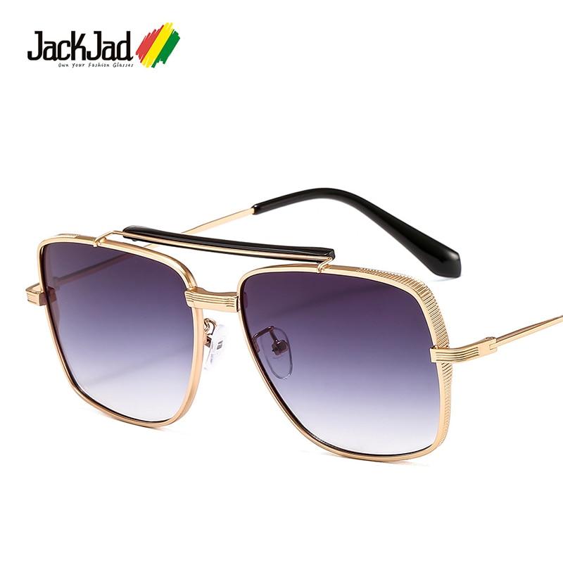 JackJad 2020 Fashion Cool Square Pilot Style Gradient Sunglasses With Hood Popular Brand Design Sun Glasses Oculos De Sol 1883