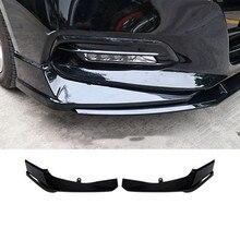 2 uds ABS frente para lateral de parachoques piezas de adornos para Honda Accord 2018 negro 2019