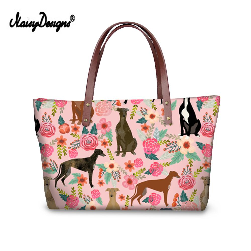 Luxury Design Handbags Women Greyhound Printing Hand Bags Ladies Top-Handle Bag For Females Travel Shoulder Tote Bags