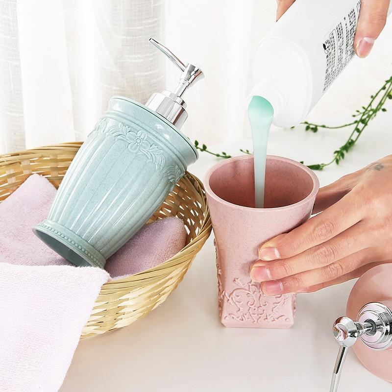400ML Hand Sanitizer Pump Bottle Soap Dispenser Makeup Bathroom Accessories Shampoo Shower Gel Travel Dispenser Bottle Container
