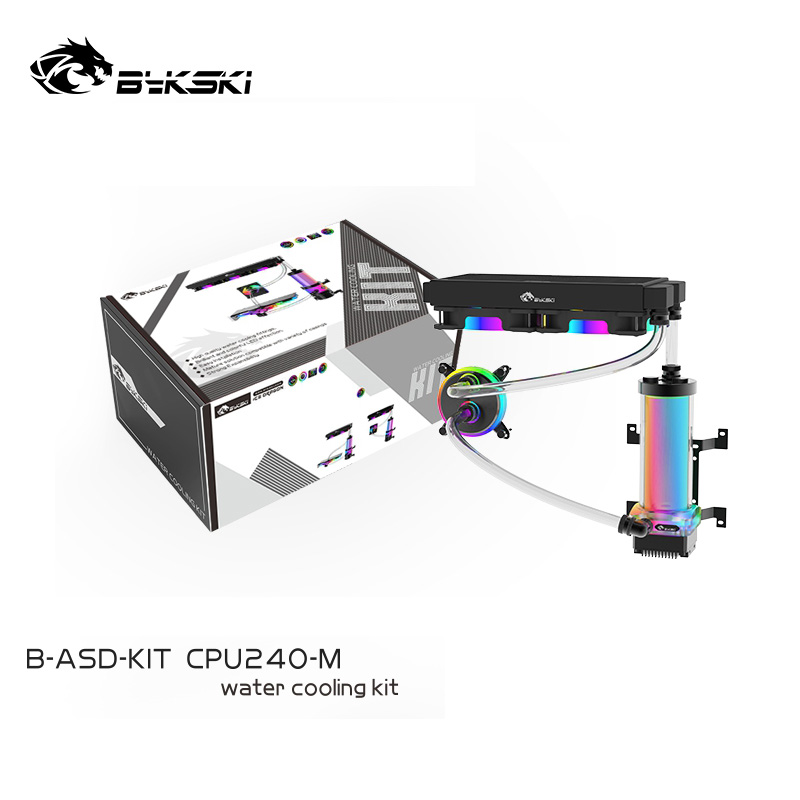 Bykski Simple Water Cooling Kit ,Fit CPU and GPU Cooler MOD set for a green,PVC hose tube 3 choices ,recommend 1