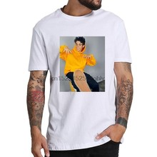 Cameron boyce camiseta homem harajuku cores pastel letras tshirts verão topos completo 100 curto