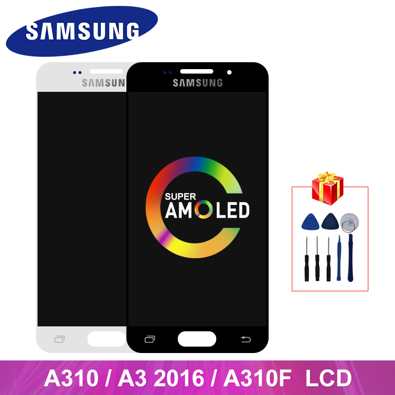Super <font><b>AMOLED</b></font> A310 <font><b>Display</b></font> For Samsung Galaxy A310 A3 2016 LCD <font><b>Display</b></font> Touch Screen Digitizer Replacement Parts For <font><b>A310F</b></font> LCD image