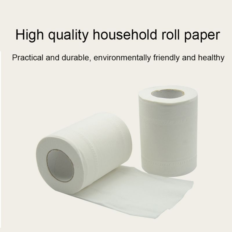 1 Pc 3 Layers Toilet Paper Kitchen No Smell Soft Bath Tissue Toilet Paper Thicken Toughness Strength Toilet Paper Roll