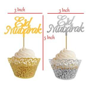 Image 2 - 20 Chiếc 3X5 Inch EID Cupcake Topper Nikkah Mubarak EID Mubarak Hajj Mubarak Umrah Mubarak Cupcake Quán Quân Cho EID Al fitr Trang Trí