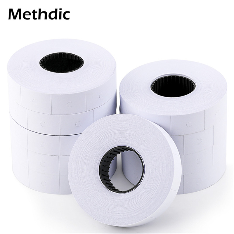 Methdic 23mmx16mm 700 Labels/roll,10 Rolls/set Blank Price Tag Label