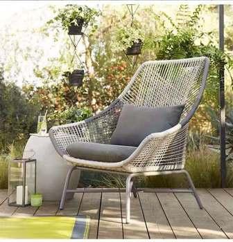 Meble ogrodowe meble ogrodowe z rattanu krzesło balkonowe rattanowe krzesło trzyczęściowy zestaw tanie i dobre opinie CN (pochodzenie) Krzesło ogrodowe Z tworzywa sztucznego