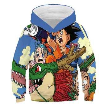 Japan Anime Hoodie Dragon Ball Z Pocket Hooded Sweatshirts Poleron Hombre Streetwear Dragon Ball blue 3D Hoodie Coats costume new men s dragon ball 3d printed hooded sweatshirt with kangaroo pocket hob aa03