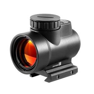 Óptica táctica Trijicon estilo MRO punto rojo mira telescópica con montaje bajo de montaje alto alcance de caza tiro reflejo montaje de vista