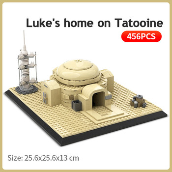 Star Series Wars Building Blocks Luke's Home on Tatooine Slums DIY Desert Architecture Model Kids Bricks Toys Children Xmas Gift 2020 new star wars the empire strikes back 20th anniversary edition building blocks model bricks classic for children toys gift