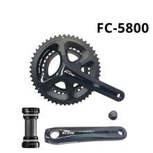 シマノ 105 FC 5800 2 × 11 22 スピードロードバイクチェーンホイール 5800 50 34T 52 36T 53 39T 自転車クランクセット 170 172.5 175 ミリメートルクランク + BBR60