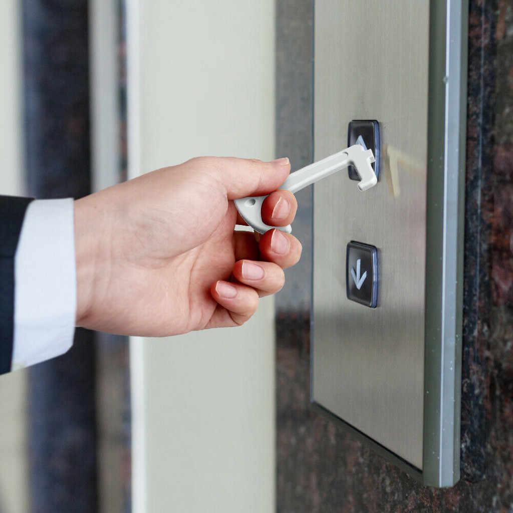 2 個安全絶縁キー非接触安全ドアオープナー安全保護分離キードアオープナーなしタッチツール衛生手
