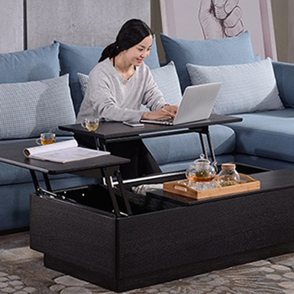 Lift up Top Coffee Table Mechanism Spring Hinge Hardware Fitting Table Hinge,Multi-Functional Pneumatic Gas Spring Lift Support Table,Modern Desk Convertible Stand Rack Bracket 1 Pair
