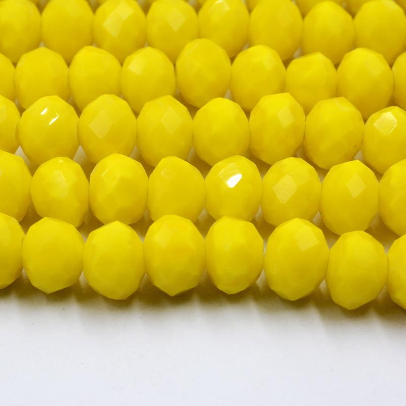 4 мм 140 шт./лот бусины из кристаллов, граненые круглые стеклянные бусины - Цвет: 084