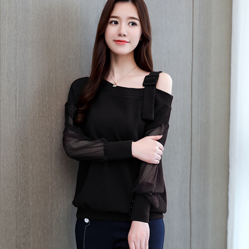 Spring Long Sleeve Shirt Women Fashion Woman Blouses 2021 Sexy Off Shoulder Top Solid Women Blouse Shirt Clothing Female 1224 40 6