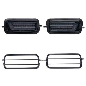 2Pcs Led Daytime Running Light for Lada Niva 4X4 1995+ DRL Turn Signal Light Car Headlight with Lamp Covers