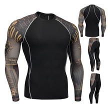 Mens thermal underwear set winter quick-drying antibacterial stretch mens spring hot sportswear gym