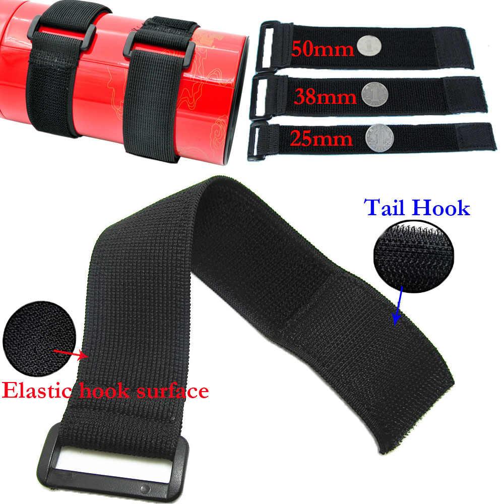 10PCS Black 50cm Hook Loop Cable Ties Strap Cord Buckle Fastener Organizer E