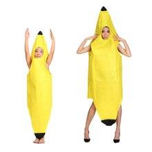 Одежда для косплея, нарядное платье для взрослых, костюм банана на Хэллоуин, забавная Новинка, одежда для ролевых игр, праздничный костюм для детей/взрослых