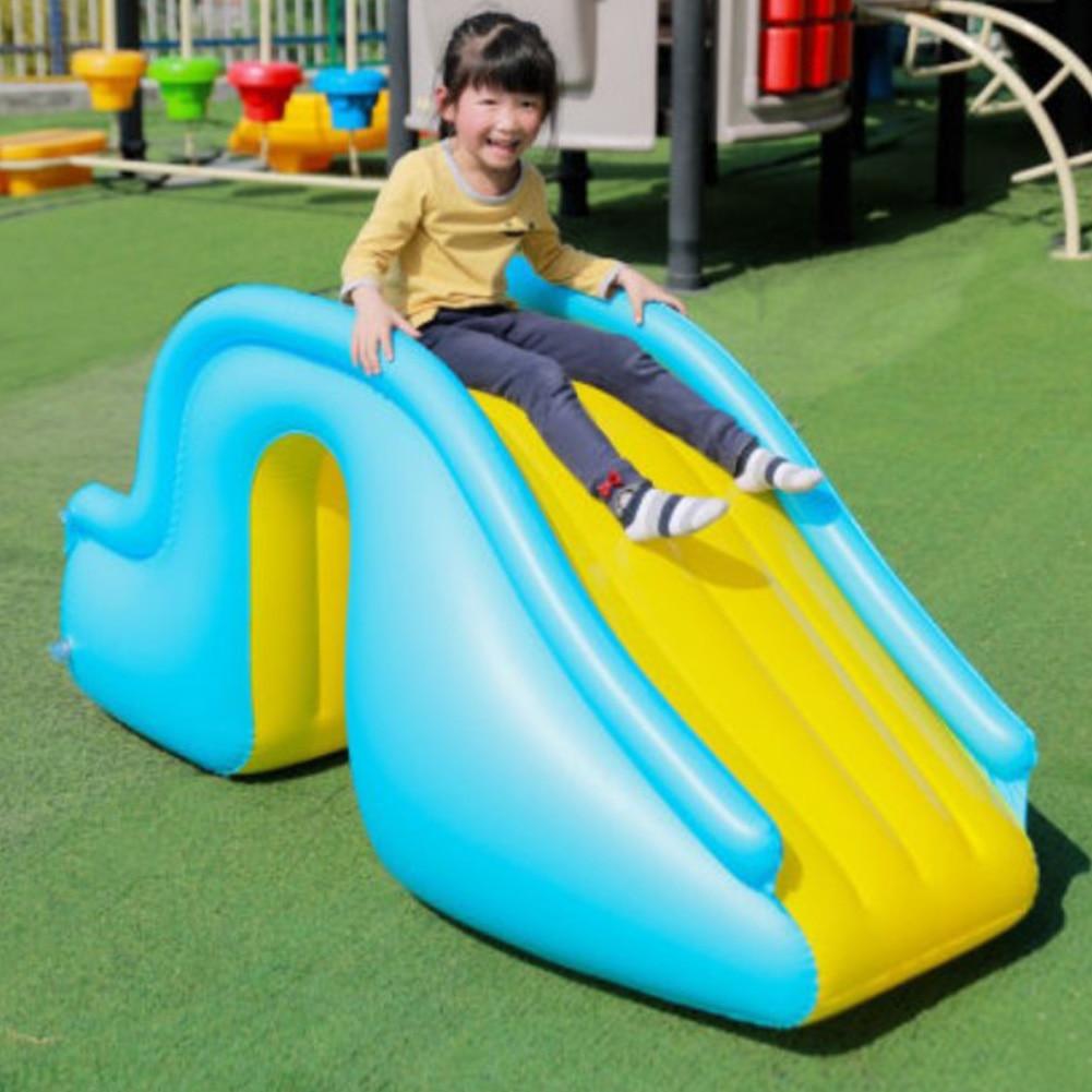 Inflatable Waterslide Wider Steps Joyful Swimming Pool Supplies Children Summer Outdoor Garden Party Game Inflatable