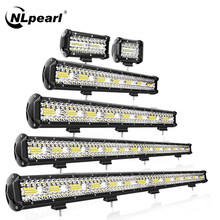 NLpearl 4-23 inch Light Bar/Work Light Led Bar Offroad Combo LED Work Light For Trucks Offroad Tractor 4x4 SUV ATV Boat 12V 24V